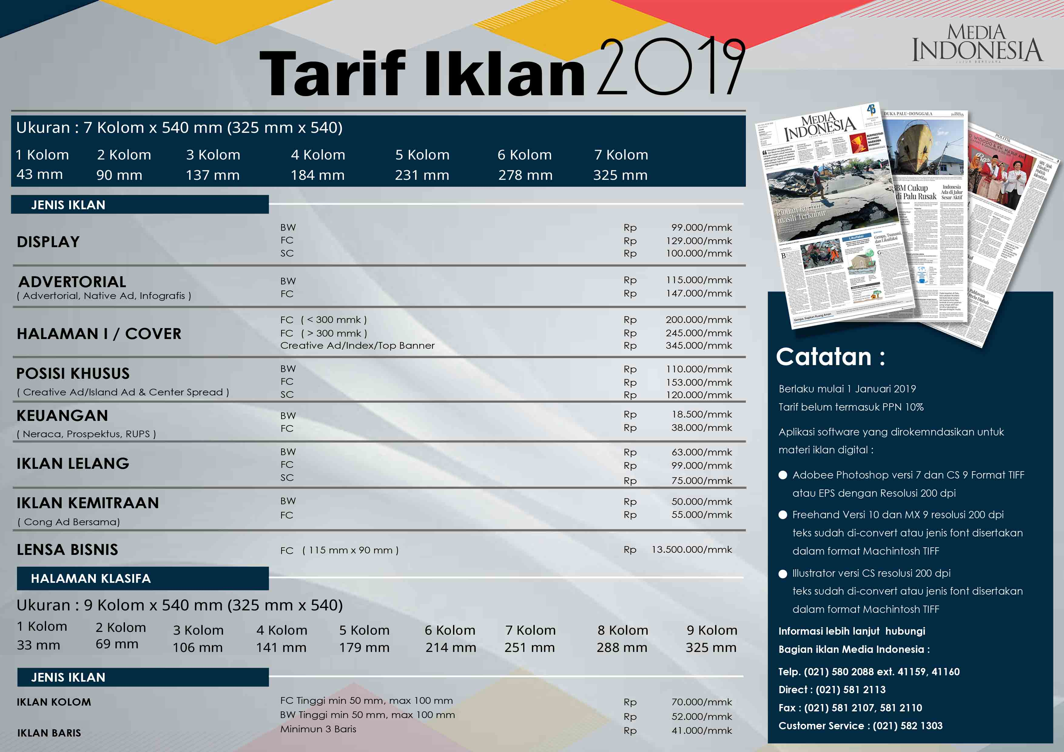 Rate Card Koran